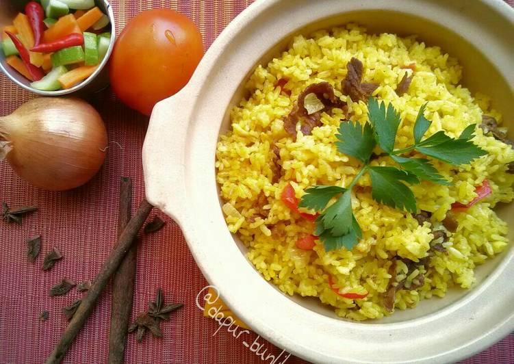 Nasi Briyani ala Rice Cooker, Praktis #rabubaru