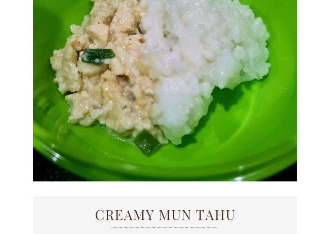 Cara buat MPASI 8m+: Creamy Mun Tahu Sederhana dan Mudah Dibuat