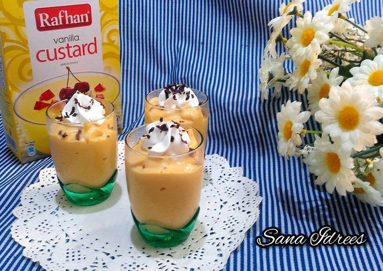 Steps to Prepare Speedy Caramel Custard Shots