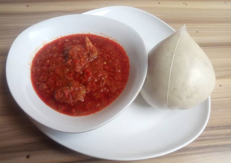How to Make Favorite Pounded yam with stew