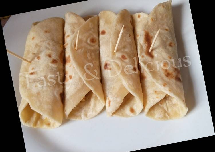 Recipe of Any-night-of-the-week Flat bread with Egg sauce
