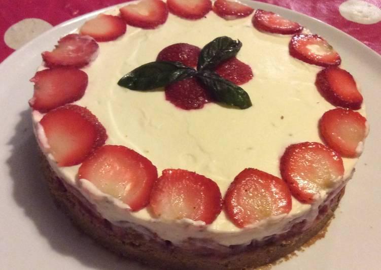 Cheesecake fraises et chocolat blanc