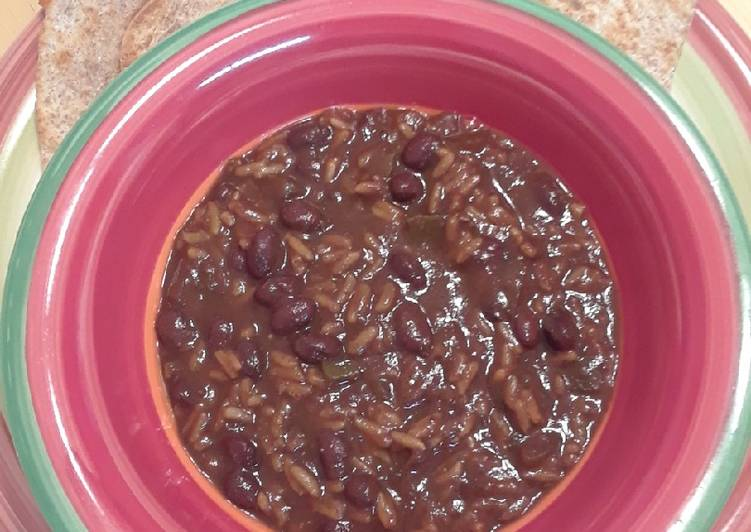 Steps to Prepare Super Quick Homemade Black Bean and Rice Soup - Slow Cooker
