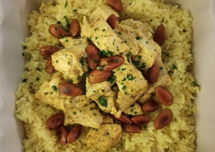 Poulet et riz vapeur au curry au thermomix