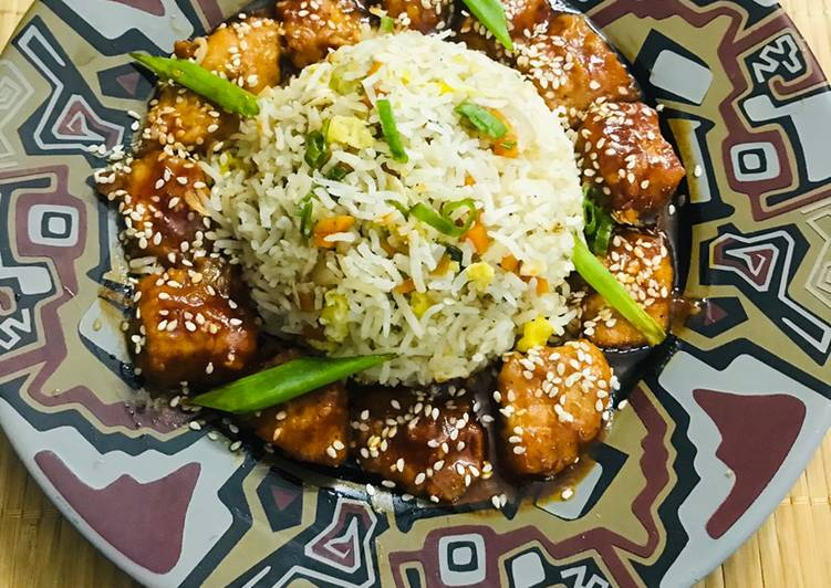 Sesame honey chicken 🐓