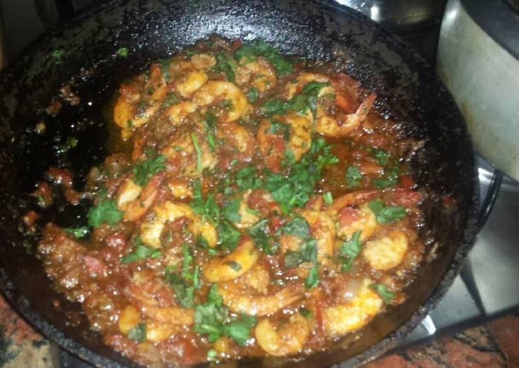 Prawns Spicy Garlic Gravy