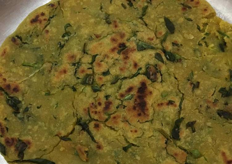 Recipe of Speedy Fenugreek sorghum rotla