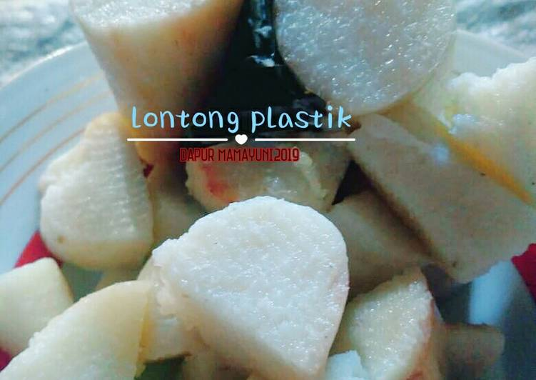 Lontong plastik polos