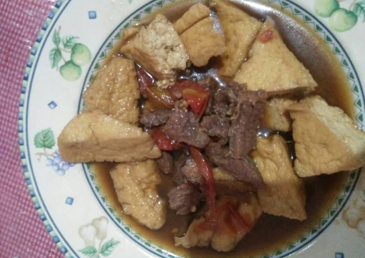 Semur betawi, daging+tahu goreng coklat#bikinramadanberkesan