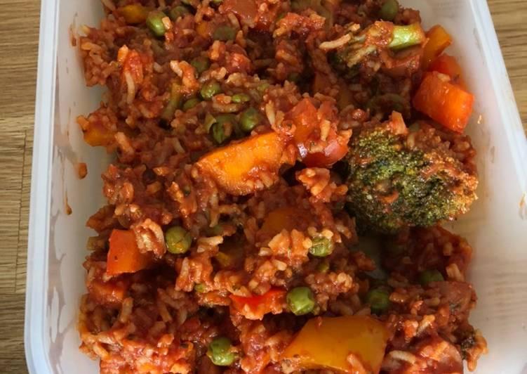 Reispfanne mit buntem Gemüse