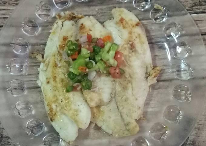 Ikan Tilapia Bakar Sambal Dabu2 - menu diet