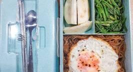 Hình ảnh món Healthy: Miến dong xào - Trứng ốp la - Cải bó xôi luộc