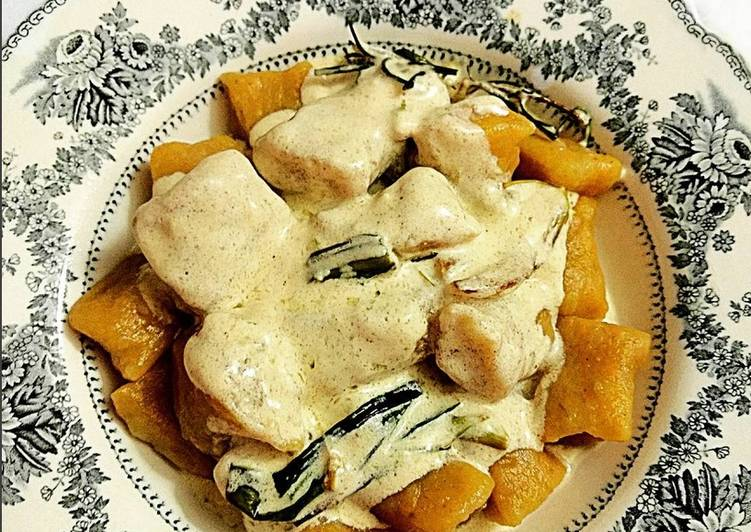 Gnocchi (ñoquis) de zanahoria, jengibre y cúrcuma