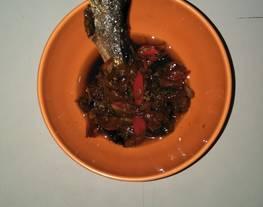 Talang masak asam   Ikan asin masak asam