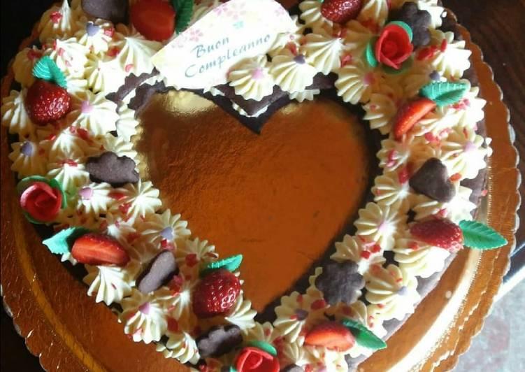 Cream tart con frolla al cacao e crema al cioccolato bianco