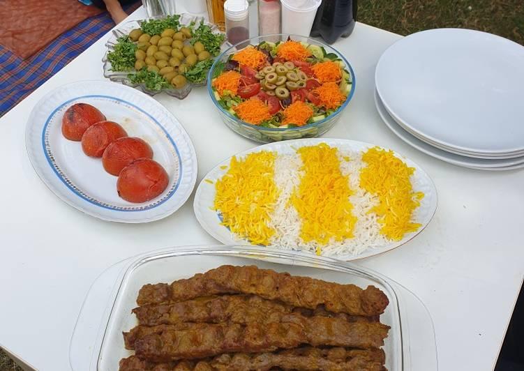Kabab-Kubideh, Hackfleisch-Spieß