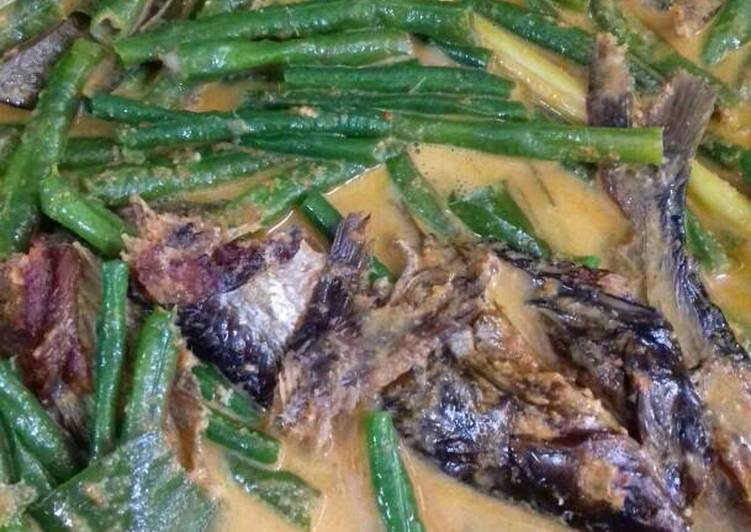 Gulai ikan salai patin kacang panjang sedap