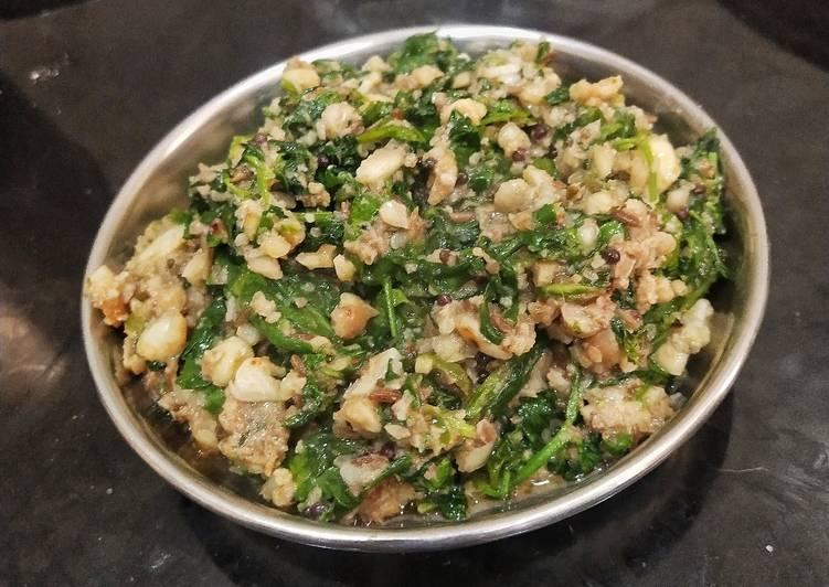 Recipe of Speedy Lahsuni Methi Garlic Fenugreek