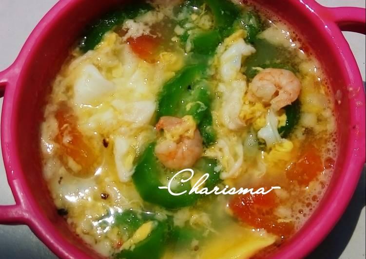 Sup Telur Gambas (menu balita 1y+)