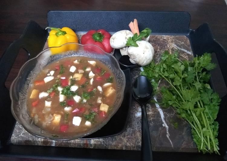 Veg Mushroom Tofu Soup