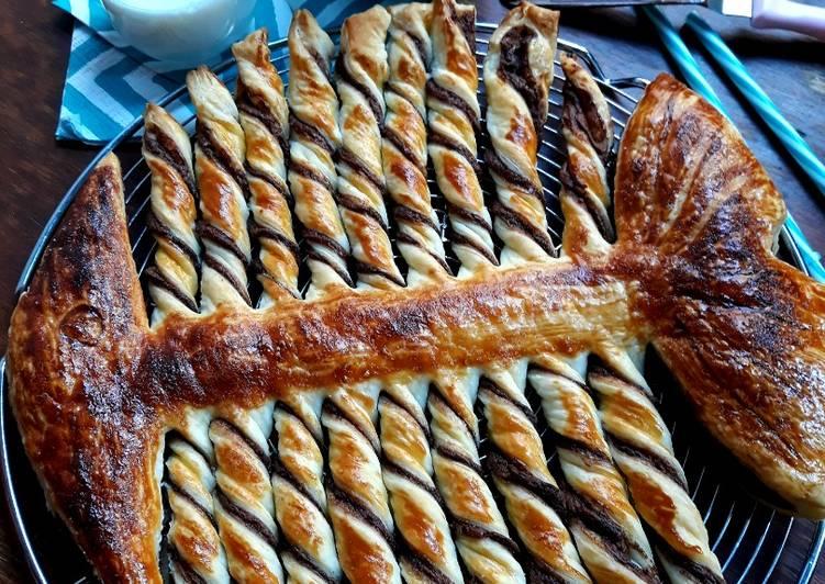 La Meilleur Recette De ☆Poisson Feuilleté à la Pâte à Tartiner☆