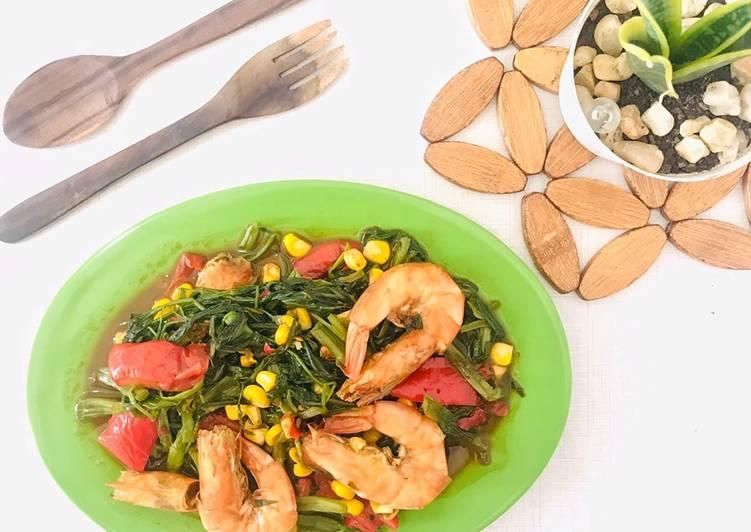 Resep Mudah Kangkung Seafood Pelangi Tanpa Tanding