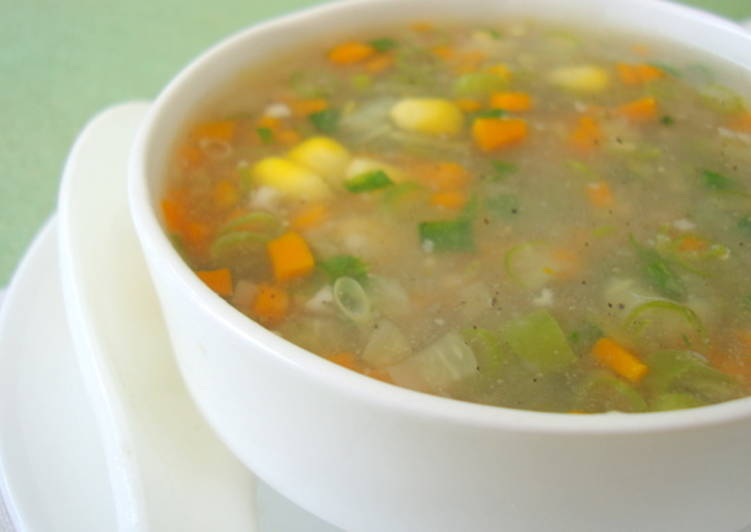 Get Healthy with Veggie Chicken Soup