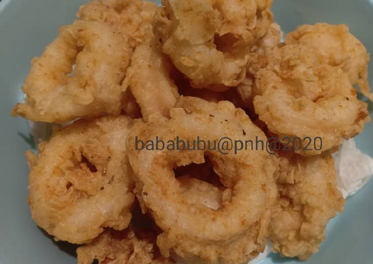 Cumi goreng tepung renyah (calamari)