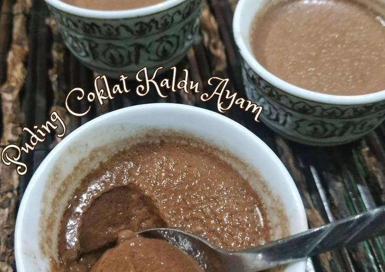 Cara mudah membuat Puding Coklat Kaldu Ayam (keto)