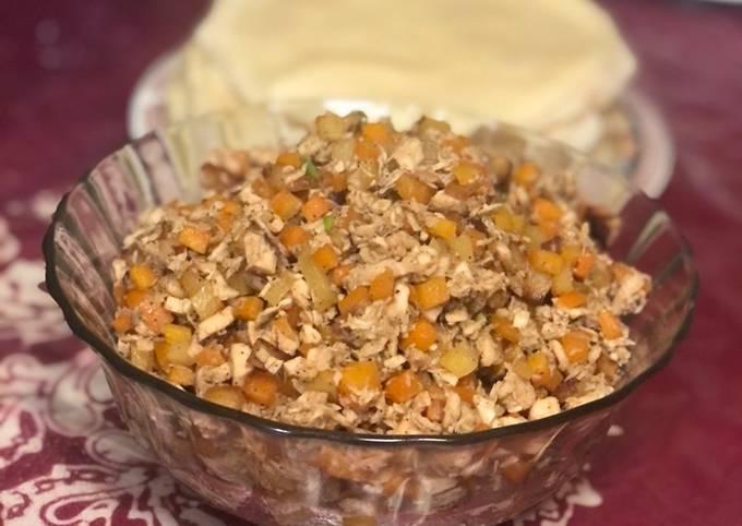 Langkah Mudah untuk Menyiapkan 23. Isi Risol Sayur Ayam #snackdiary Anti Gagal