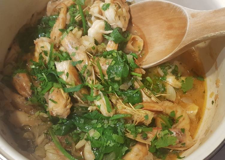 Prawns spinach Rigatoni