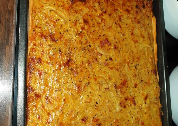Zwiebelkuchen vom Blech