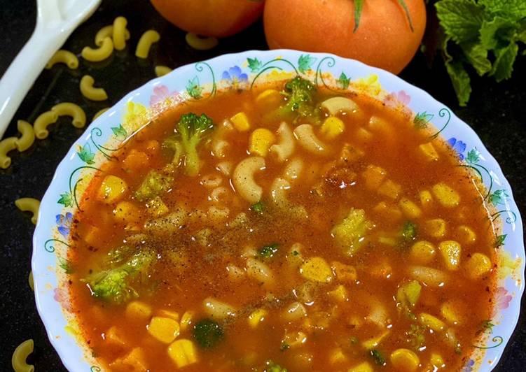 Friday Fresh Tomato Macroni Soup 🍜 