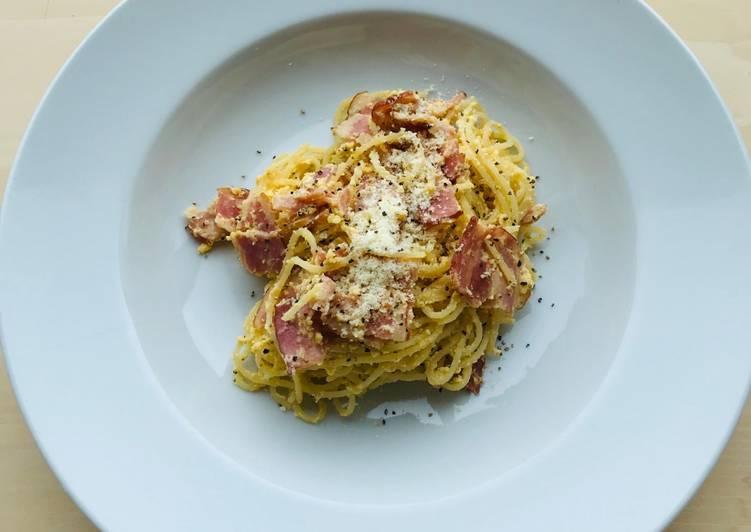 Recipe: Tasty Pasta alla Carbonara Romana❤️