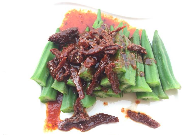 Okra With Sun Dried Tomato Spicy Sauce