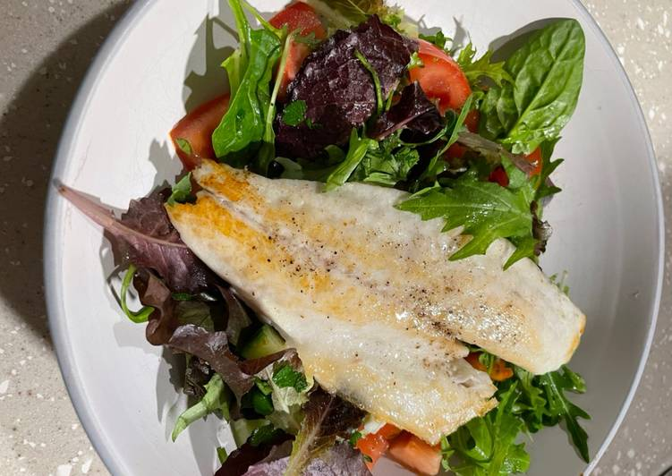 50+ Dinner Ideas Ultimate Pan Fried Sea Bass with a Parsley Salad 🥗