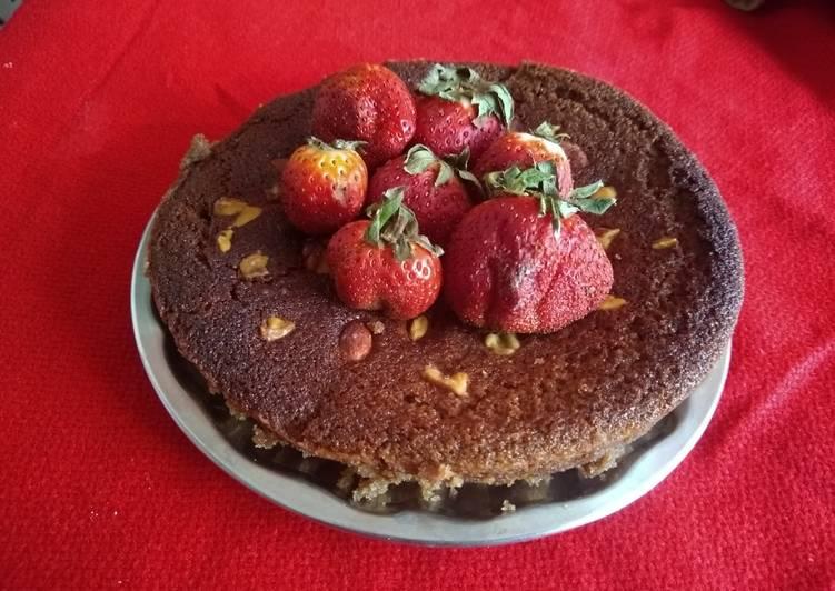 5 Minute Easiest Way to Prepare Winter Eggless chocolate cake