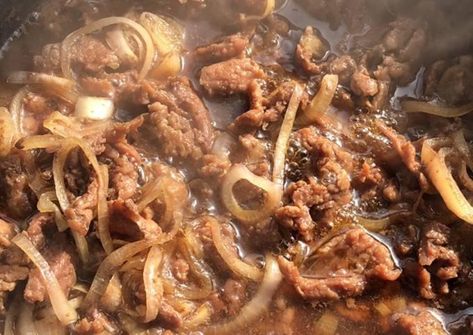 Beef Yoshinoya homemade