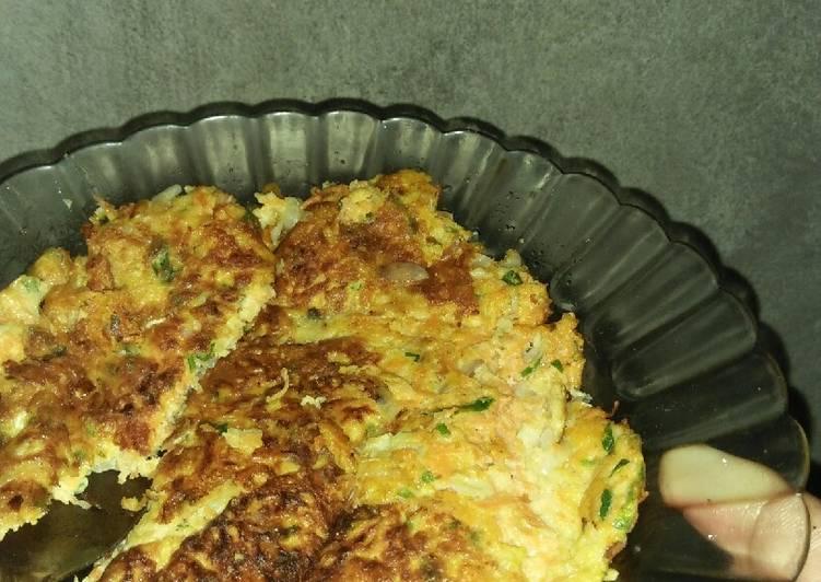 Omelet sayur with keju