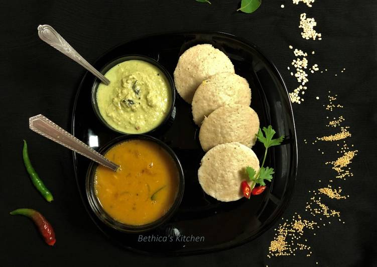 Recipe of Homemade Foxtail Millet Idli