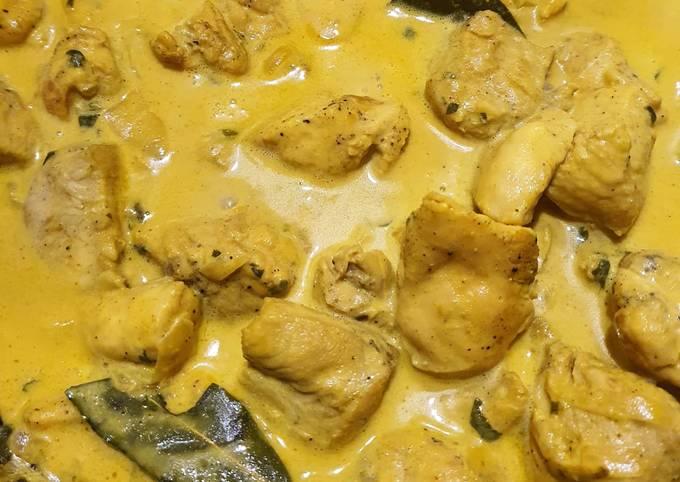 Poulet curry crémeux