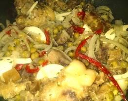Ensalada de pata bien santiagueño (cartílago de pata de vaca)