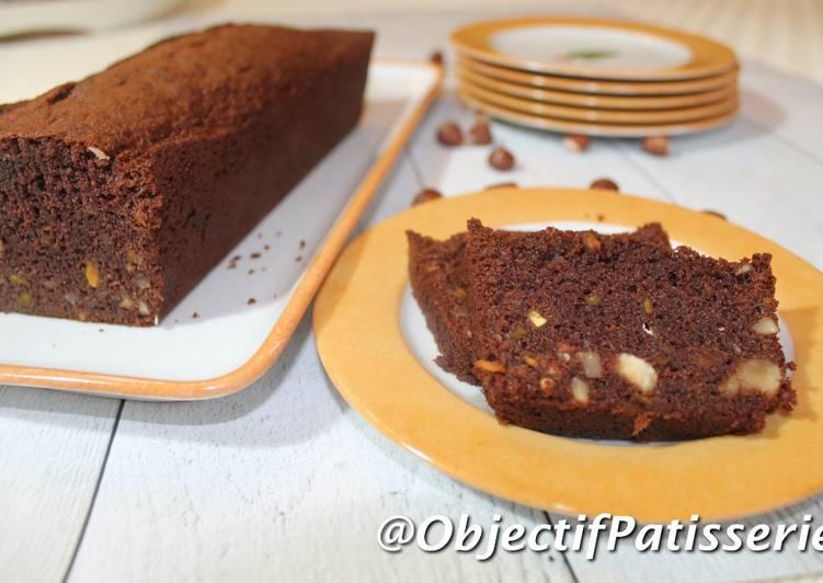 Les Meilleures Recettes de Cake moelleux chocolat noisette