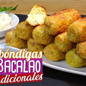 Albóndigas de bacalao, receta tradicional Valenciana. Receta sin gluten ni lactosa