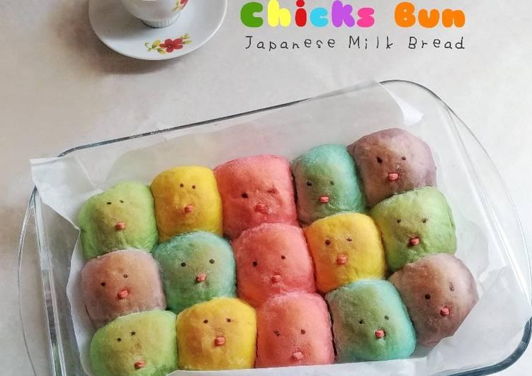 Bagaimana Menyiapkan Chicks Bun || Japanese Milk Bread, Lezat Sekali
