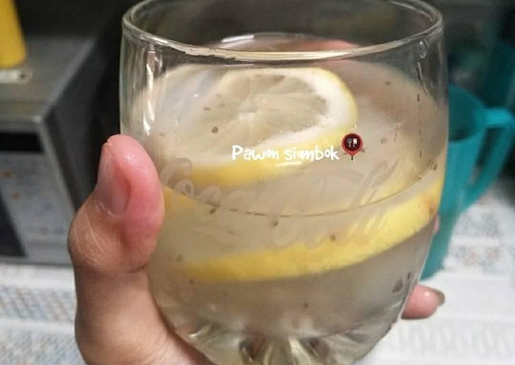 Es lemon nata de coco asam asam segar pawon si mbok