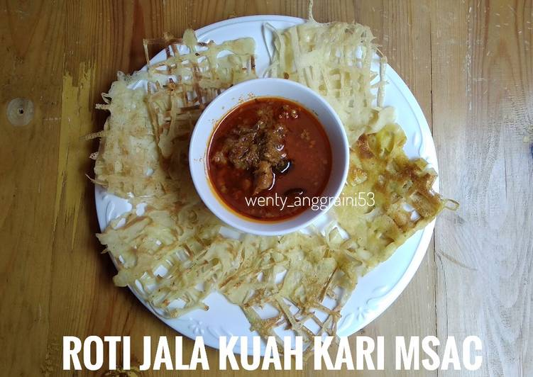 Roti jala kuah kari daging (versi low carb) (menu diet)