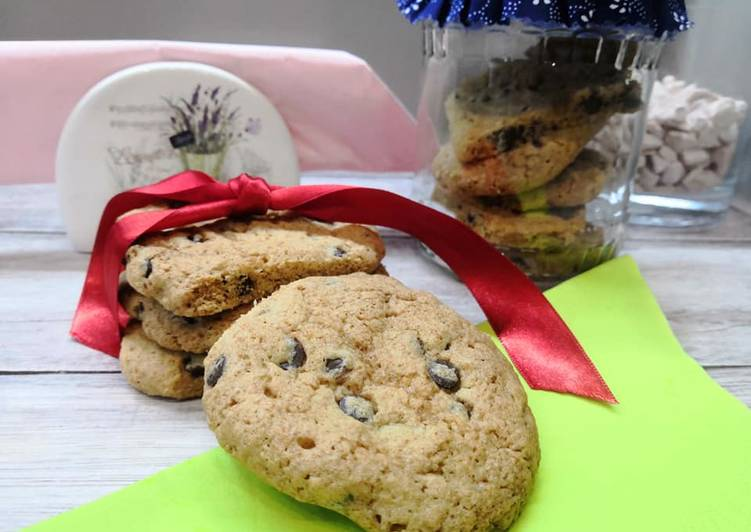 Glutén és tejmentes amerikai csokis keksz recept foto