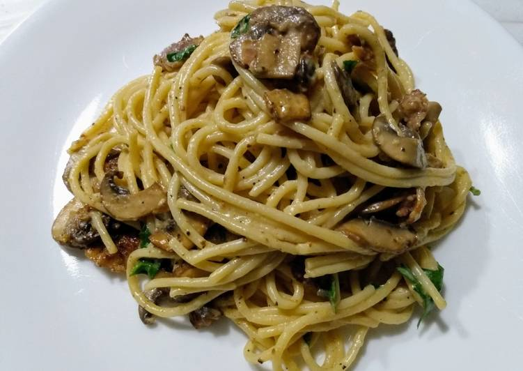 Easiest Way to Prepare Yummy Mushroom carbonara