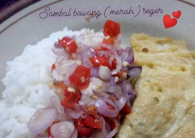 Resep Sambal bawang (merah) seger Anti Gagal